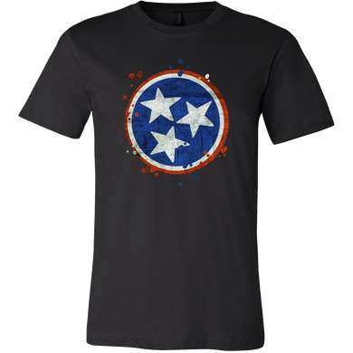 Tennessee State Vintage Grunge Flag U.S T-Shirt