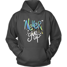 Never Ever Give Up Inspiring Hoodie