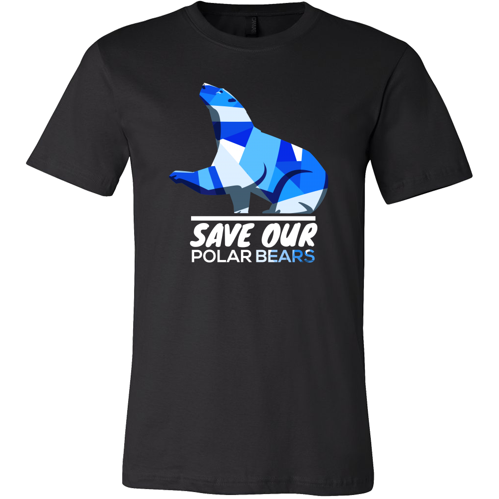 Save Our Polar Bears,Endangered Animal Love Bears T-shirt
