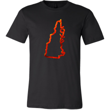 Love New Hampshire State Flag Map Outline Souvenir Gift T-shirt