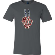 Peace Sign, Vintage American USA Flag T-shirt