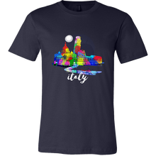 Italy Skyline Watercolor Sunset Love Everything Italian T-shirt