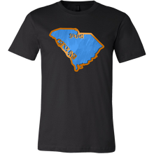 Love South Carolina State Flag Map Outline Souvenir Gift T-shirt