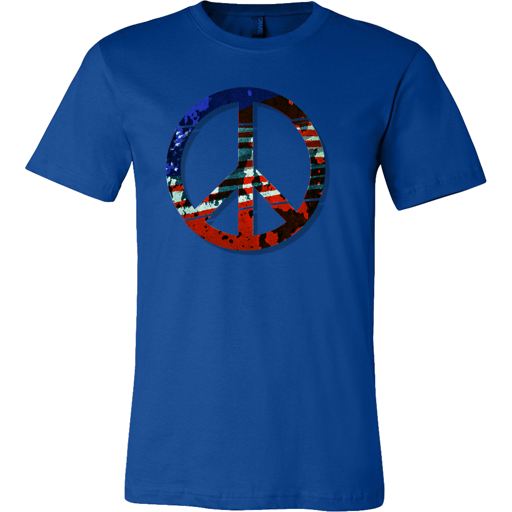 Big Peace Sign, Vintage American Flag T-shirt