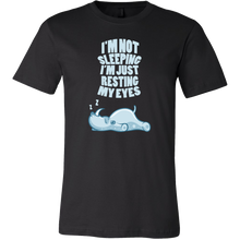 Not Sleeping Just Resting My Eyes Rhino Funny T-shirt