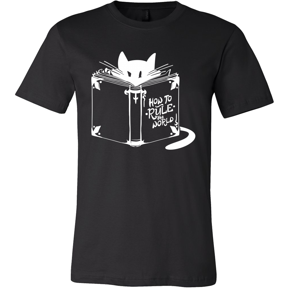 Cool Cat Tshirt - 'How To Rule The World' Quote and Cat design on tshirt