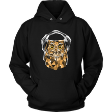 Animal Life Owl With Headphones Design on Hoodie