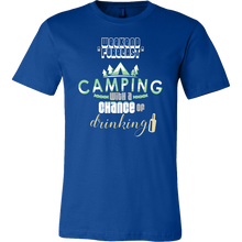 Camping With A Chance Of Drinking Cute Campers Camp T-shirt