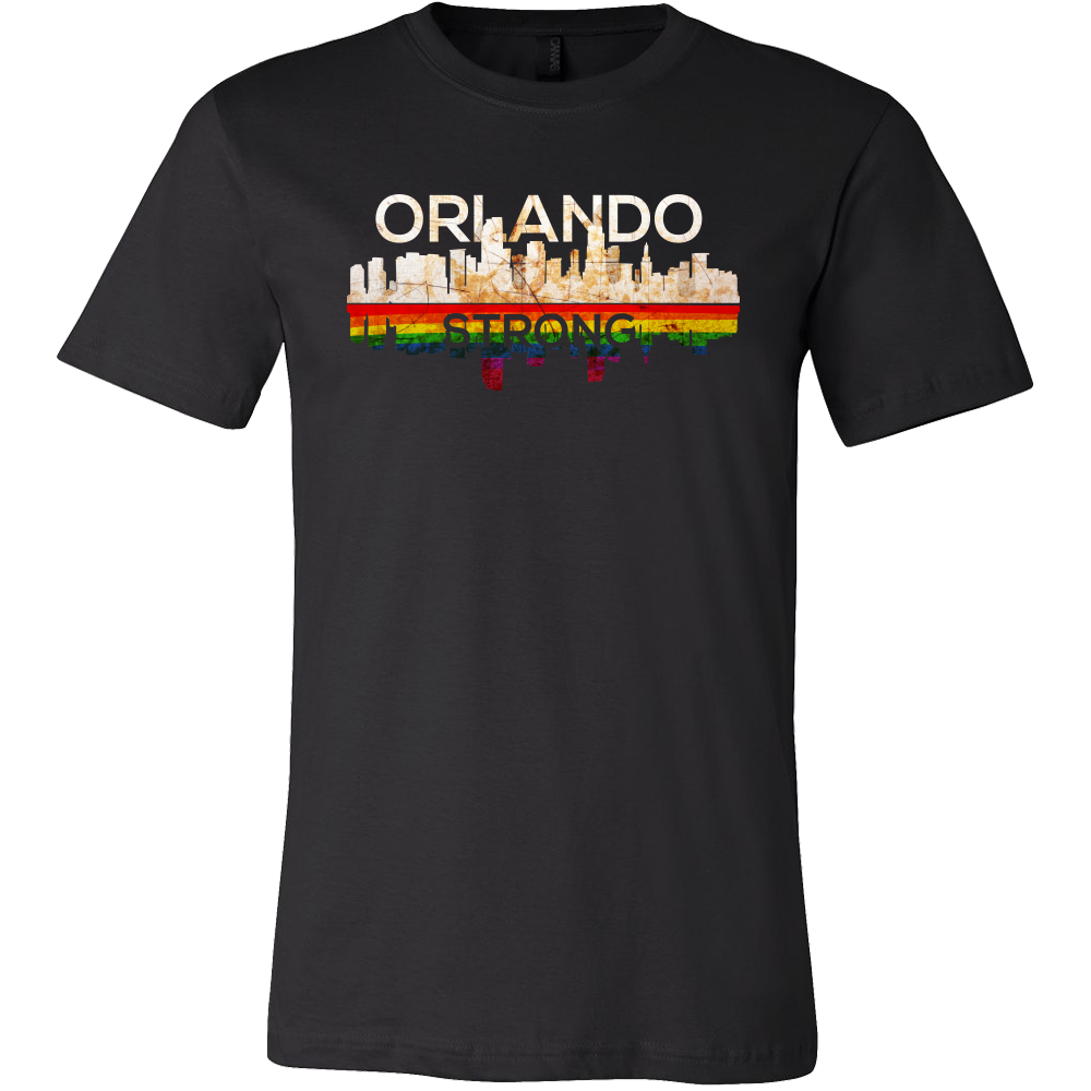 Orlando Strong Florida Skyline Gay Pride Unite T Shirt