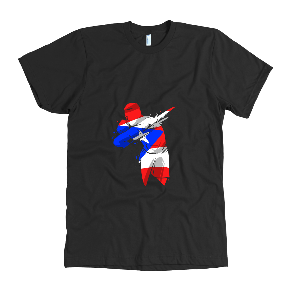 Colorful Soccer Flag Puerto Rico Tshirt Design