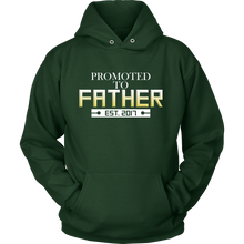 Promoted To Father - Est. 2017' Expecting Father Hoodie