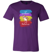 16th Birthday,Sixteen and Fabulous B-day Unicorn Rainbow T-shirt