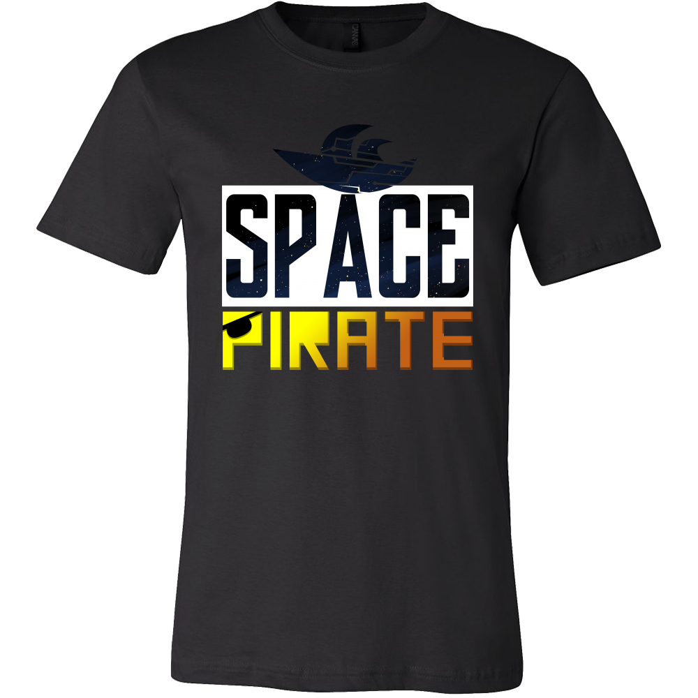 Space Pirate Rockets Ship Outer Space Astronaut T-shirt