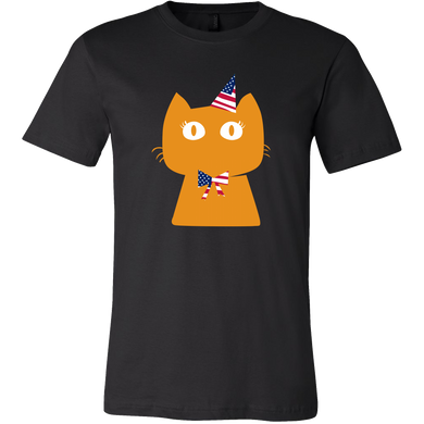 Cat Love Cats Pet Cats Lover Patriotic Party Gift T-shirt