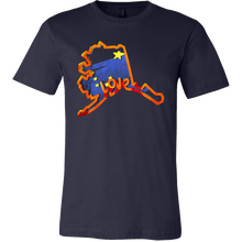 Love Alaska State Flag Map Outline Souvenir Gift T-shirt