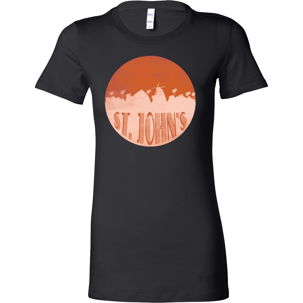 St John's Skyline Horizon Sunset City In Canada Bella Shirt
