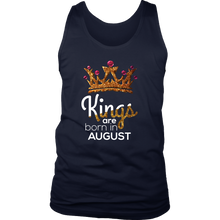 Kings Are Born in August Birthday B-day Gift Men's tank