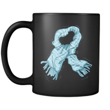 Winter Scarf Christmas Black 11oz mug