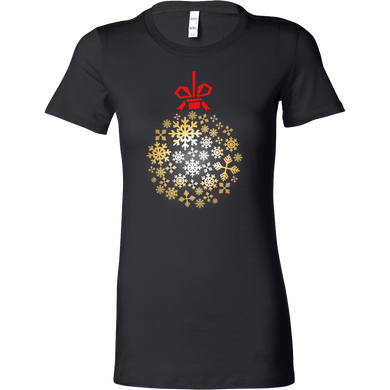Snowflake Christmas Merry Xmas Winter Season Bella Shirt