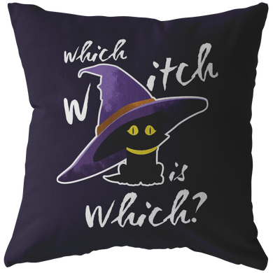 Funny Which Witch is Which Halloween Pillow