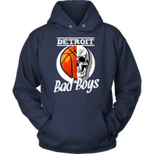 Detroit Bad Boys Basketball Skull USA Hoodie