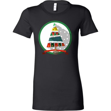 Christmas Tree, Merry Christmas Winter Season Bella Shirt