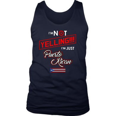 556961f2219 Puerto Rican Tank 'I'm Not Yelling, I'm Puerto Rican'