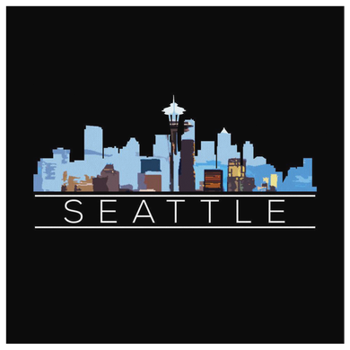 Seattle Washington Downtown City Skyline Souvenir Travel US Canvas