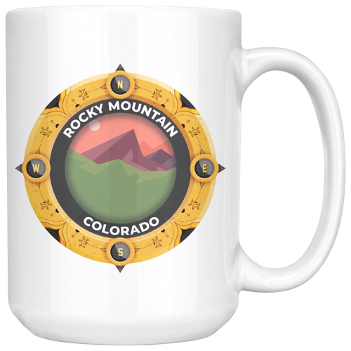 Rocky Mountain National Park Mug | Colorado National Parks Art Coffee 11oz - 15oz Mug
