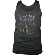 I Made It Work Inspirational Motivational Men's tank