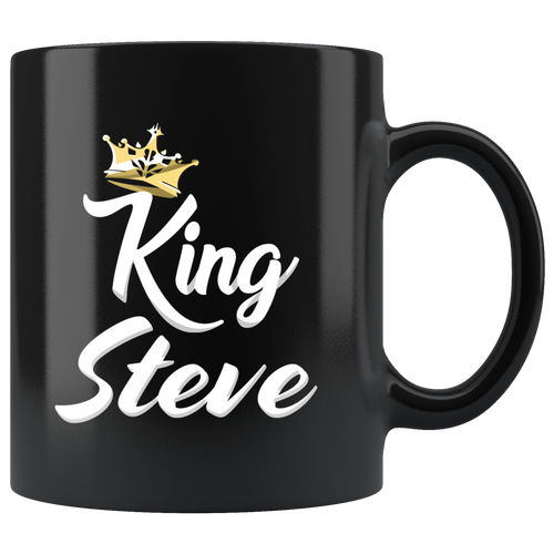 King Steve - 11 Ounce Black Mug