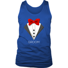 Funny Men's Bachelor Party Tuxedo Groom Men's tank