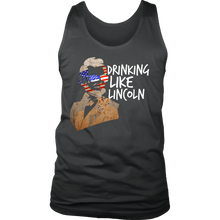 Drinking Like Lincoln Party Funny USA 4th Of July Men's Tank