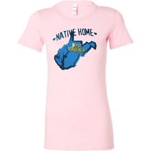 Love West Virginia State Native Home Map Outline Souvenir Bella Shirt