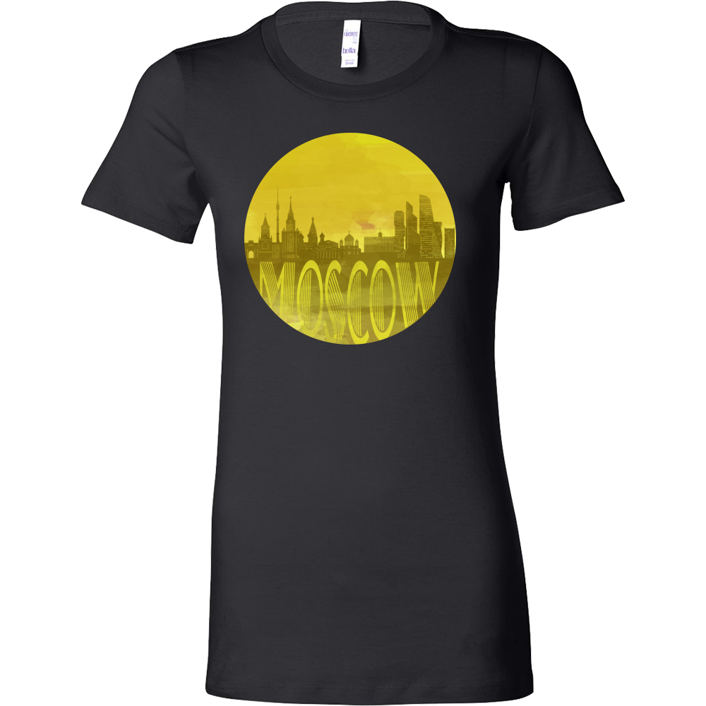 Moscow Skyline Horizon Sunset Love Russia Bella Shirt