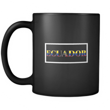 Ecuador, Ecuadorian Patriotic Country Flag Black 11oz Mug