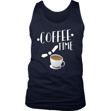 Coffee Time Quote Coffee Novelty Men's Tank For Coffee Lovers