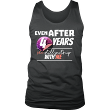 Funny Men's 4th Year Anniversary Statement Men's tank