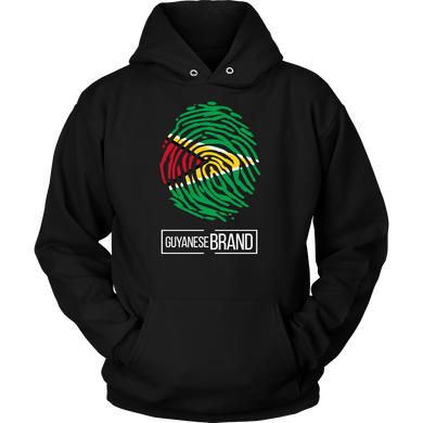 Guyana Guyanese Pride Flag Fingerprint Country Hoodie