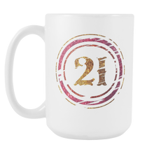 21st Birthday,Born in 1996,Twenty One B-day White 15oz Mug