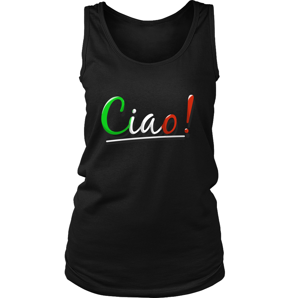Italian Ciao Greeting Language I Love Italy Women's Tank Top Shirt