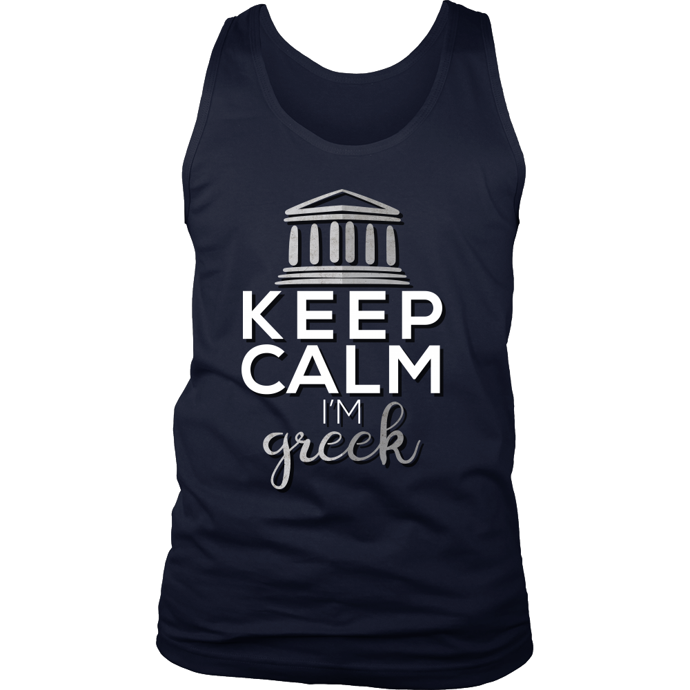 Can't Keep Calm, I'm Greek Funny Greece Tank