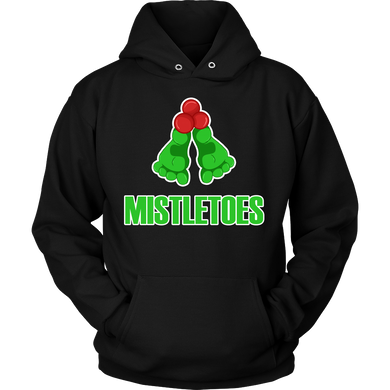 Christmas Funny and Cute Mistletoes Novelty Hoodie
