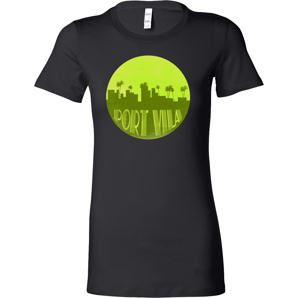 Port Vila Capital Skyline Horizon Sunset Vanuatu Bella Shirt