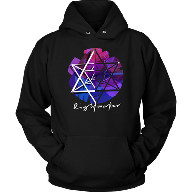 Lightworker Merkaba Sacred Geometry Abstract Hoodie