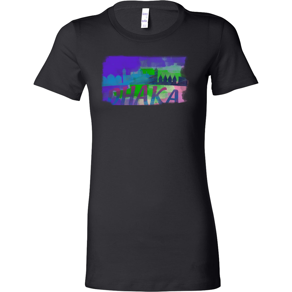 Dhaka Skyline Horizon Sunset Love Bangladesh Bella Shirt