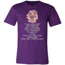 Chickens, My Level of Crazy Funny Pun Farmers Gift T-Shirt