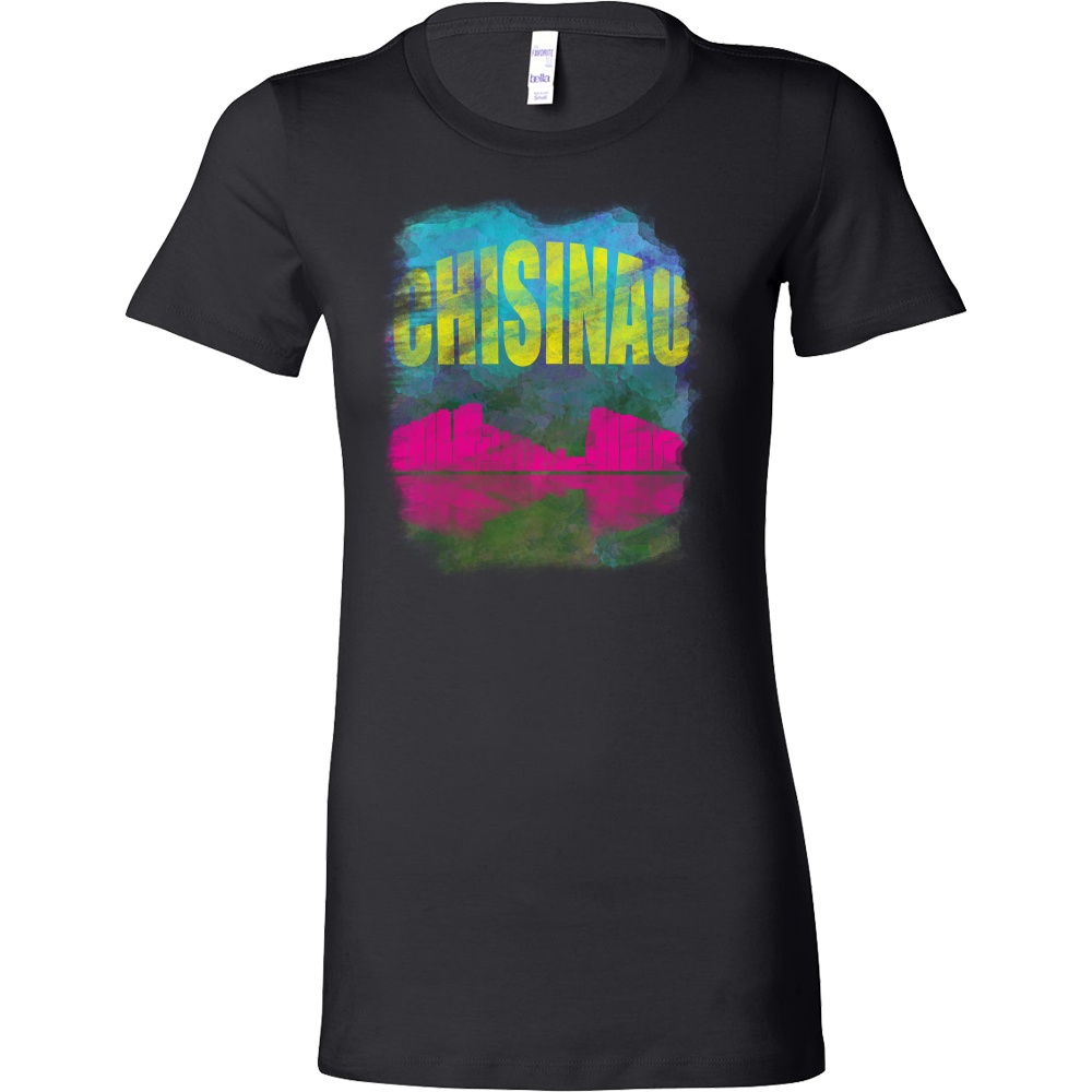 Chisinau Skyline Horizon Sunset Love Moldova Bella Shirt