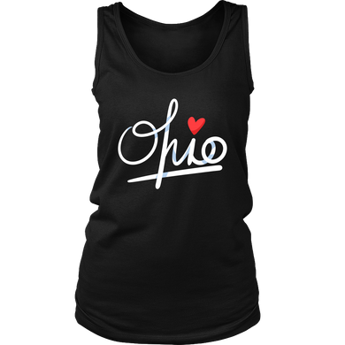 State of Ohio, Love Ohio U.S.A Souvenir Shirt Travel Women's Tank Top