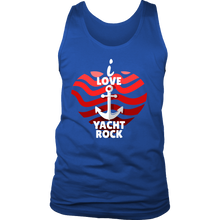 I Love Yacht Rock and Roll Anchor Funny Tank